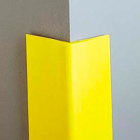 "Vinyl-4"" Wing Corner Guard, 8'H, Safety Yellow, Heavy Duty Vinyl"