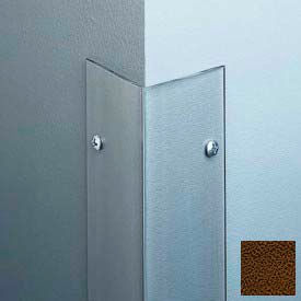 "Polycarbonate Surface Mounted 135° Corner Guard, 2-1/2"" Wing, 8'H, Brown, Drilled"