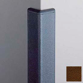 Surface Mounted Corner Guard 90°, 2'' Wings, 4'H With Caps, Brown