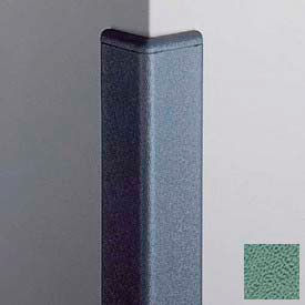 Surface Mounted Corner Guard 90°, 2'' Wings, 4'H W/Caps, Teal