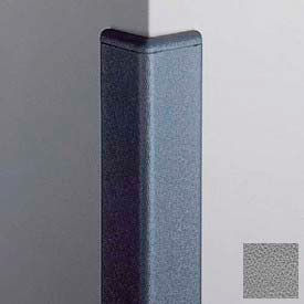 Surface Mounted Corner Guard 90°, 2'' Wings, 4'H W/Caps, Gray