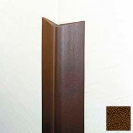 "Flexible Vinyl Corner Guard, 1-3/4"" Wings, 1/4"" Radius, 4'H, Brown, Heavy Duty Flexible Vinyl"
