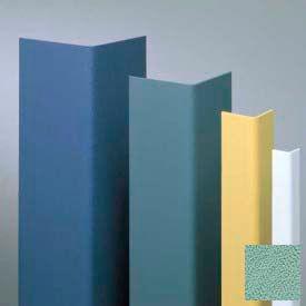 "Vinyl Surface Mounted Corner Guard, 90° Corner, 1-1/2"" Wings, 4'H, Pale Jade, Drilled"