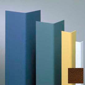 "Vinyl Surface Mounted Corner Guard, 90° Corner, 1-1/2"" Wings, 4'H, Brown, Drilled"