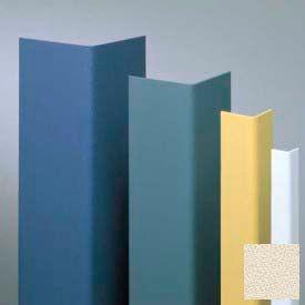 "Vinyl Surface Mounted Corner Guard, 135° Corner, 1-1/2"" Wing, 4'H, Eggshell, Drilled"