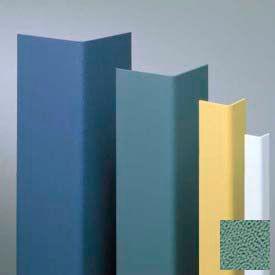 "Vinyl Surface Mounted Corner Guard, 135° Corner, 1-1/2"" Wing, 8'H, Teal, Drilled"