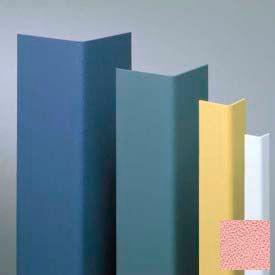 """Vinyl Surface Mounted Corner Guard, 90° Corner, 1-1/2"""" Wing, 12'H, English Rose, Vinyl W/Tape"""