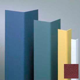 "Vinyl Surface Mounted Corner Guard, 90° Corner, 1-1/2"" Wings, 12'H, Cordovan, Vinyl W/Tape"