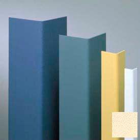 "Vinyl Surface Mounted Corner Guard, 90° Corner, 1-1/2"" Wings, 8'H, Pale Yellow, Vinyl W/Tape"