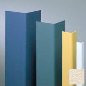 "Vinyl Surface Mounted Corner Guard, 135° Corner, 1-1/2"" Wings, 4'H, Eggshell, Vinyl W/Tape"
