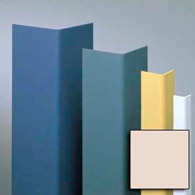 """Vinyl Surface Mounted Corner Guard, 90° Corner, 1-1/2"""" Wings, 8' Height, Taupe, Undrilled"""