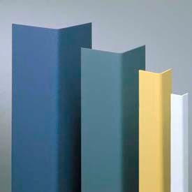 "Vinyl Surface Mounted Corner Guard, 90° Corner, 3/4"" Wings, 12' Height, Taupe, Vinyl"