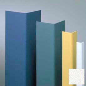 "Vinyl Surface Mounted Corner Guard, 90° Corner, 3/4"" Wings, 12'H, WH Sand, Vinyl"