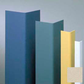 "Vinyl Surface Mounted Corner Guard, 90° Corner, 3/4"" Wings, 4'H, Bone, Vinyl"