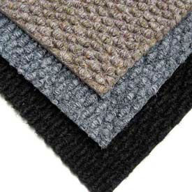 "Berber Polypropylene Carpet Tiles, 19-11/16""L X 19-11/16""W, 1/2"" H, Black"