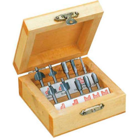 Router Bit Set, 10 Pcs., In Wooden Box from Router Bits