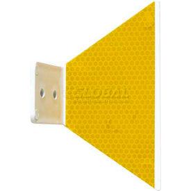Butterfly Guardrail Marker, Glue-On, Yellow - Pkg Qty 200