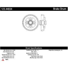 C-Tek Standard Brake Drum, C-Tek 123.44034