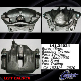 Centric Semi-Loaded Brake Caliper, Centric Parts 141.34024