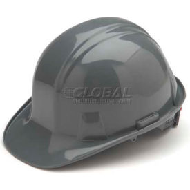 Gray Cap Style 4 Point Ratchet Suspension Hardhat Package Count 16 by