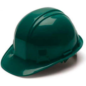 Green Cap Style 4 Point Ratchet Suspension Hard Hat - Pkg Qty 16