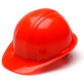 Hi Vis Orange Cap Style 4 Point Ratchet Hardhat Package Count 16 by