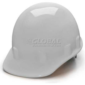 White Cap Style 4 Point Ratchet Sleek Shell Hardhat Package Count 12 by