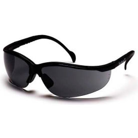 Venture II® Eyewear Gray Lens, Black Frame - Pkg Qty 12