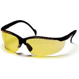 Venture Ii® Eyewear Amber Lens , Black Frame - Pkg Qty 12