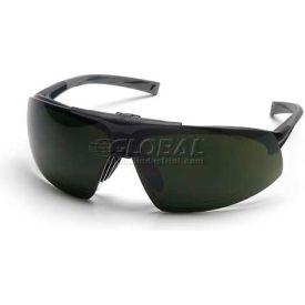 Onix Plus™ Clear Anti-Fog Lens/5.0 IR Flip Lens , Black Frame - Pkg Qty 12