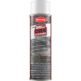 Sprayway Grill and Oven Cleaner, 20 oz. Aerosol Spray SW826 Package Count 12 by