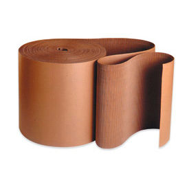 "6 Single Face Corrugated Kraft "" A"" Flute Corrugated - 250' / Roll/Pack"