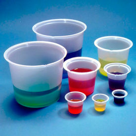 Qorpak 235339 Disposable Polystyrene Beakers, 50mL, Translucent, Case of 500 by