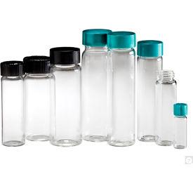 Qorpak GLA-00792 Clear Glass Screw Thread Sample Vials Only, 6 dram (22ml), Case of 144