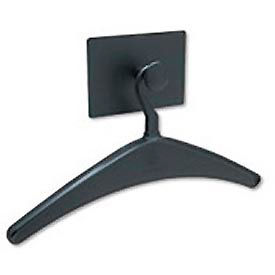 Magnetic coat hook with hanger, black