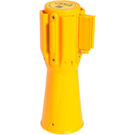 ConePro 500 Yellow Traffic Cone Mount Retracting Belt Barrier, 10' Authorized Access Only Belt