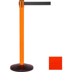 Orange Post Safety Barrier, 7.5ft, Fluorescent Orange Belt - Pkg Qty 2