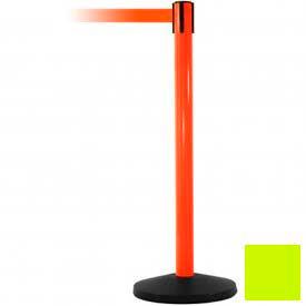 Orange Post Safety Barrier, 11 Ft., Fluorescent Yellow Belt - Pkg Qty 2