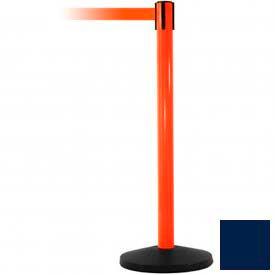 Orange Post Safety Barrier, 11 Ft., Navy Blue Belt - Pkg Qty 2