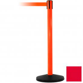 Orange Post Safety Barrier, 11 Ft., Red Belt - Pkg Qty 2