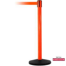 Orange Post Safety Barrier, 7.5ft, Authorized Belt - Pkg Qty 2