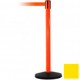 Orange Post Safety Barrier, 7.5ft, Yellow Belt - Pkg Qty 2