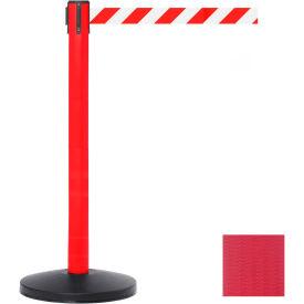 Red Post Safety Barrier, 11 Ft., Red Belt - Pkg Qty 2