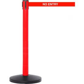 Red Post Safety Barrier, 11 Ft., No Entry Belt - Pkg Qty 2