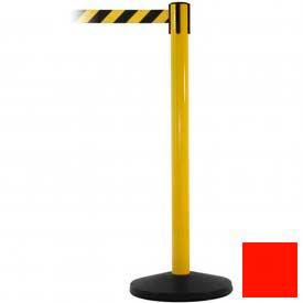 Yellow Post Safety Barrier, 11 Ft., Fluorescent Orange Belt - Pkg Qty 2