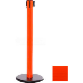 Orange Post Safety Barrier, 16 Ft., Fluorescent Orange Belt