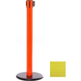Orange Post Safety Barrier, 16 Ft., Yellow Belt