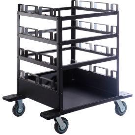 Horizontal Stanchion Storage Cart, 12 Post Capacity, STCART12H