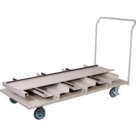 Vertical Stanchion Storage Cart, 18 Post Capacity, STCART18V
