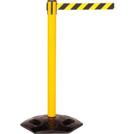 WeatherMaster Yellow Post Retracting Belt Barrier, 11 Ft. Yellow/Black Belt